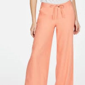Pants - Linen Pants - in Peach Pink